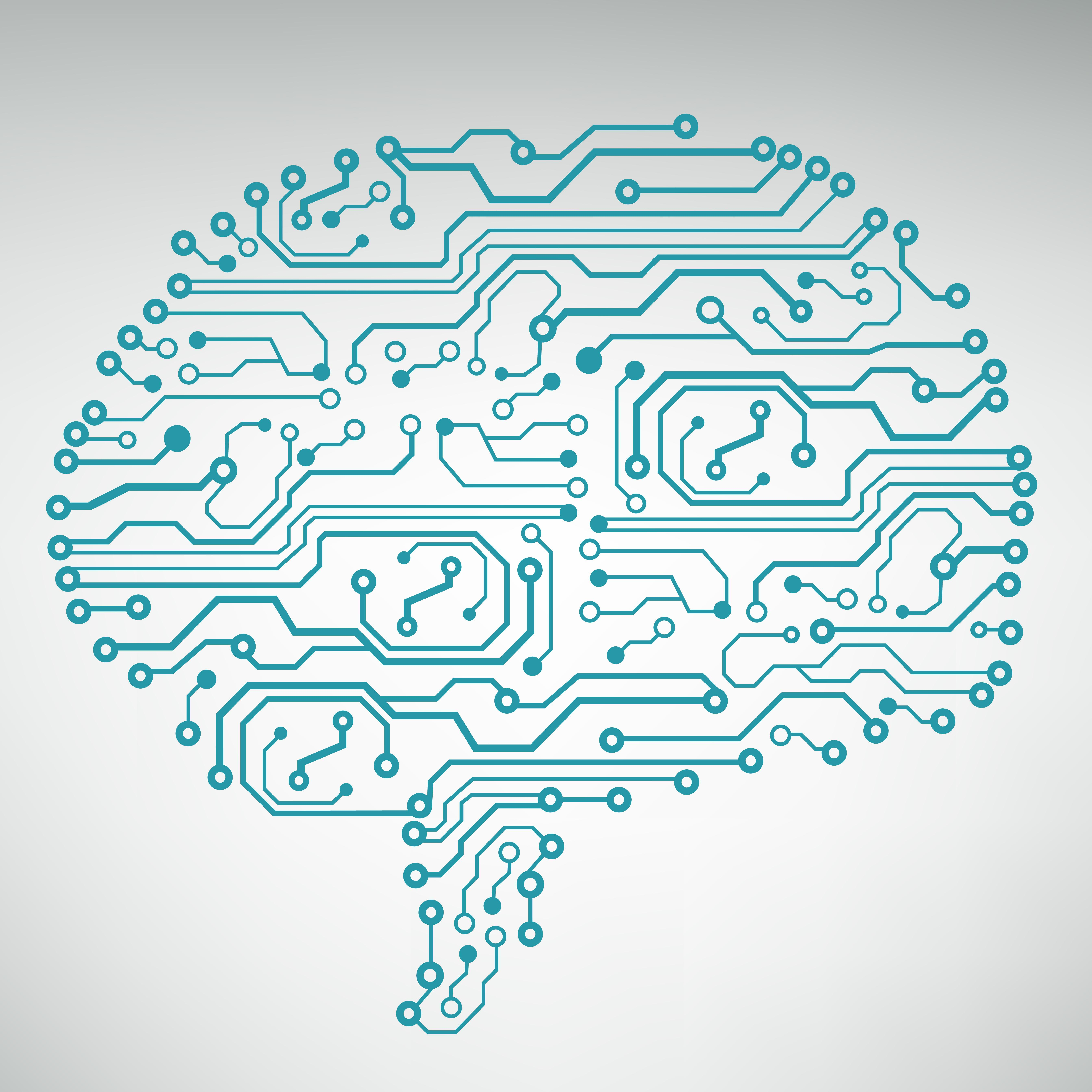 Circuit Board Computer Brain Code And Background Illustration