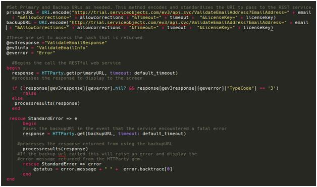 Ruby on rails code example