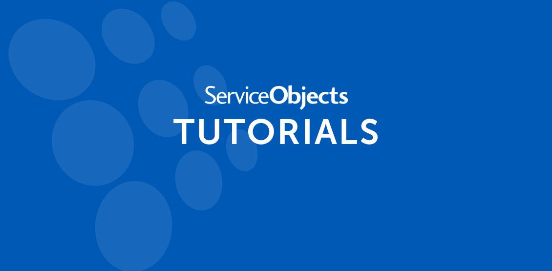No image, text reads Service Objects Tutorials