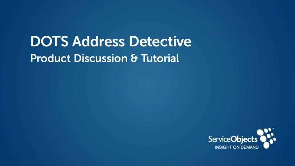 Product Specs: DOTS Address Detective