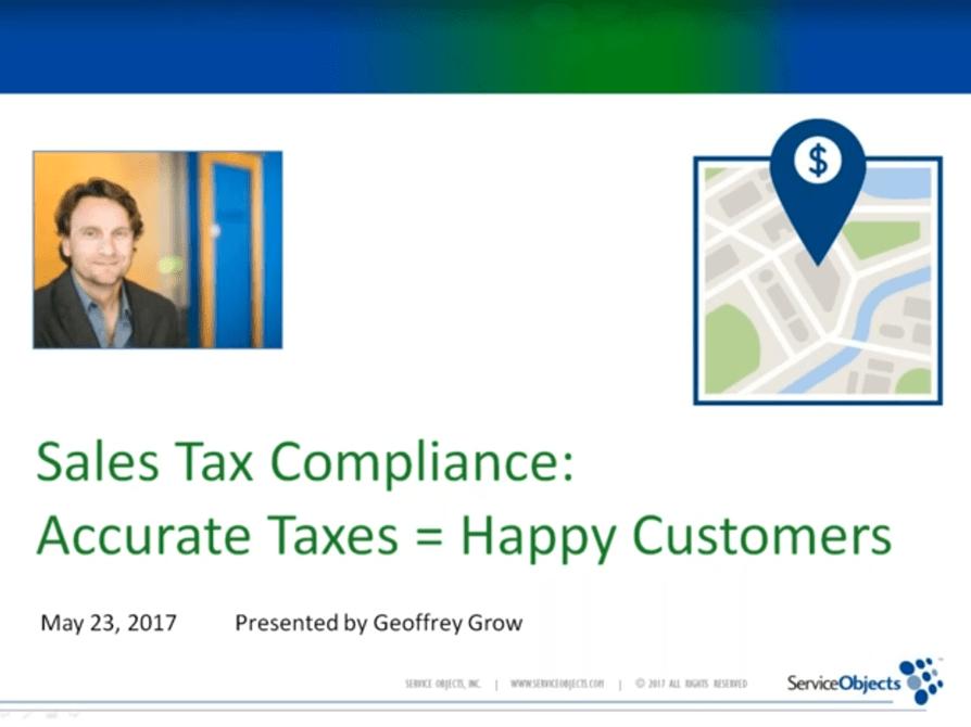 Webinars: Accurate Taxes = Happy Customers