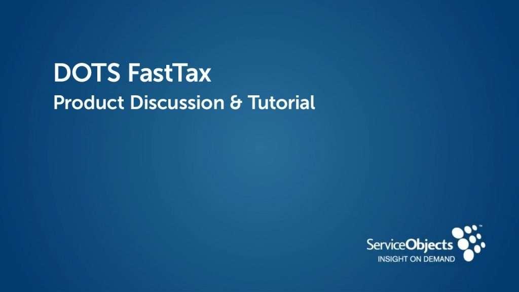 Product Specs: DOTS FastTax