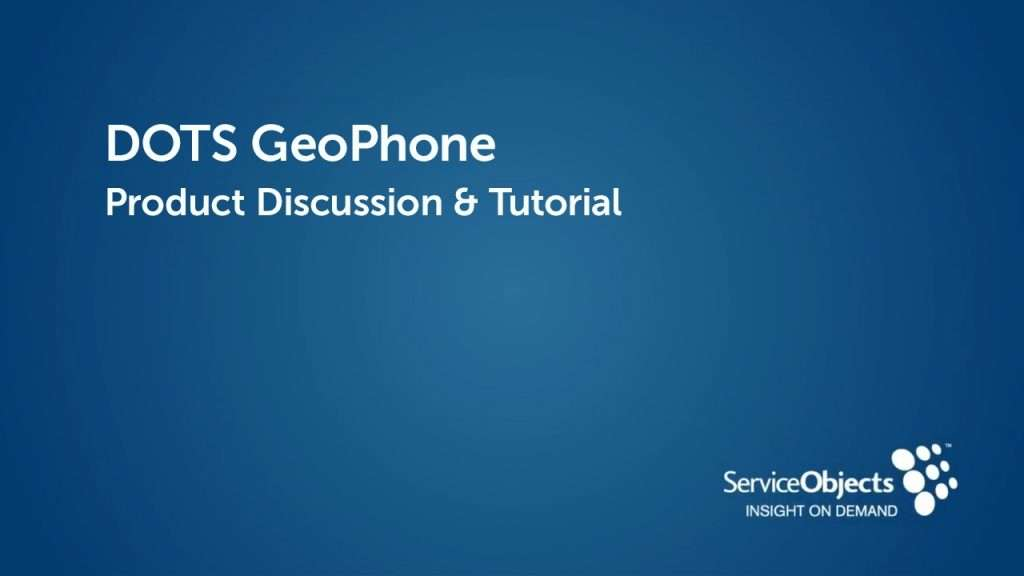 Product Specs: DOTS GeoPhone