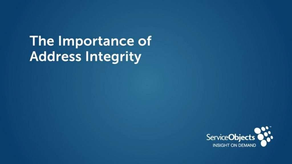 The Importance of Address Integrity