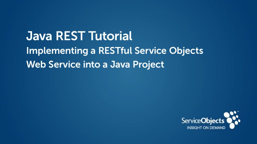 Java REST Tutorial