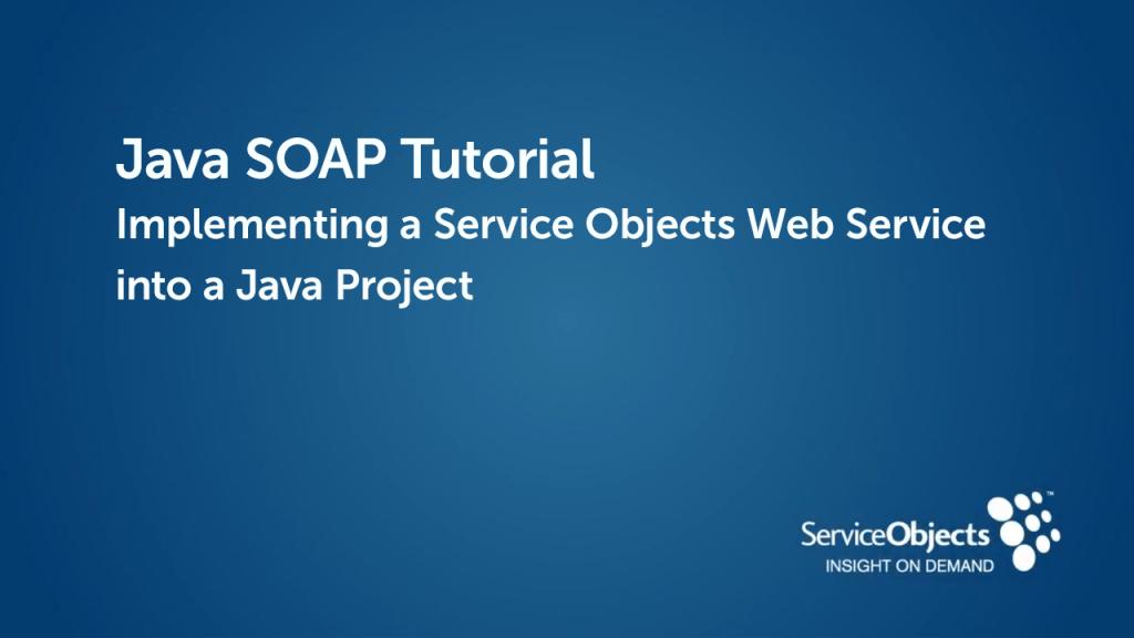 Java SOAP Tutorial