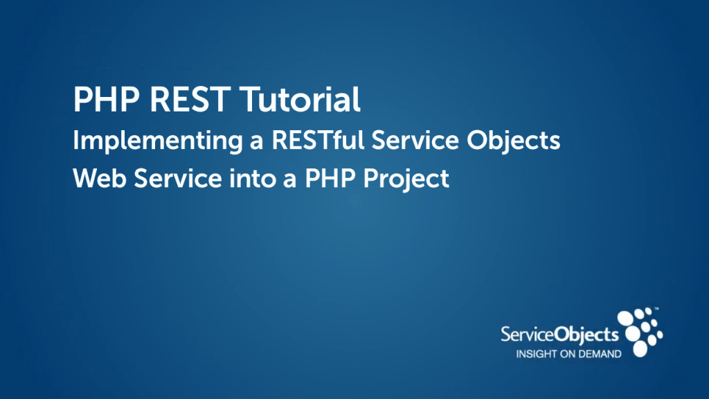 PHP REST Tutorial