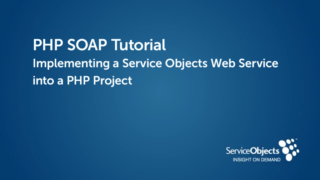 PHP SOAP  Tutorial