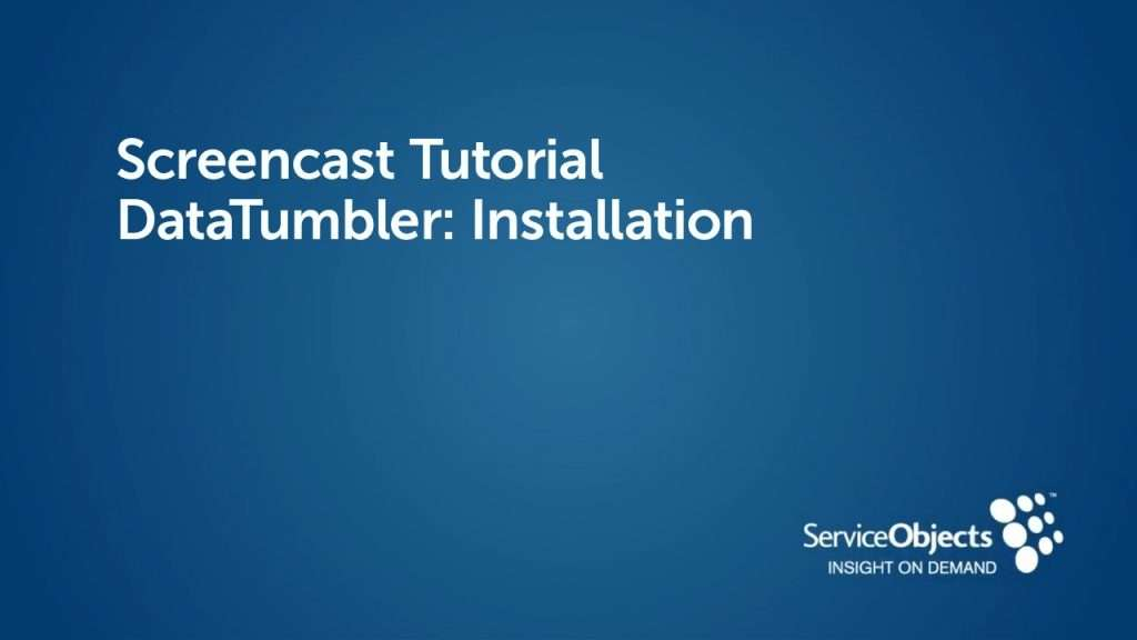 DataTumbler: Installation