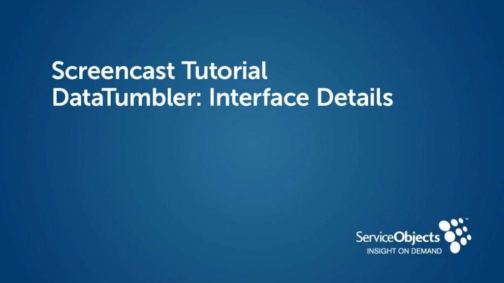 DataTumbler: Interface Details