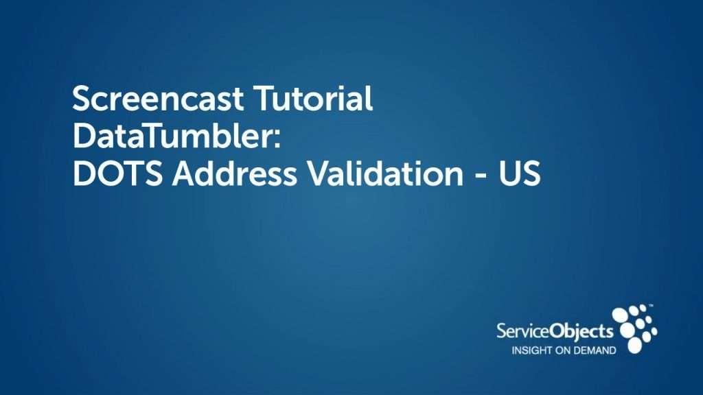 DataTumbler: DOTS Address Validation US